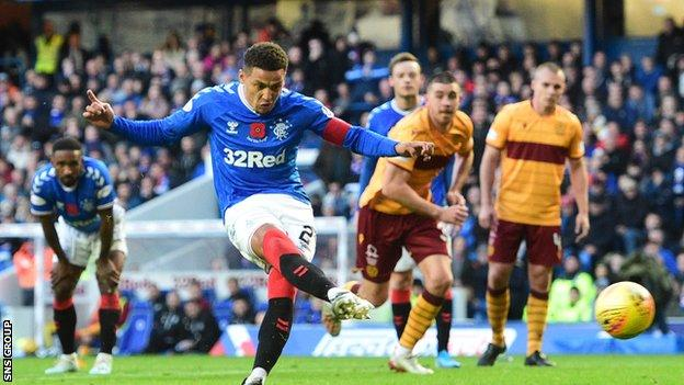 Rangers captain James Tavernier has been directly involved in eight goals in his last nine league games against Motherwell (four goals, four assists).