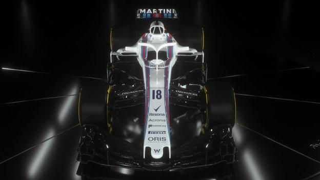 The new Williams FW41 Formula One car for the upcoming 2018 season
