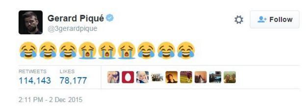 Gerard Pique tweet