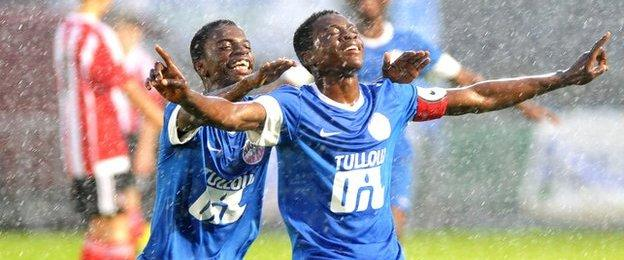 Right to Dream skipper Ernest Boahene scored with a spectacular free-kick