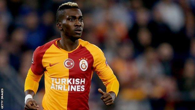 Nigeria's Henry Onyekuru in action for Galatasaray