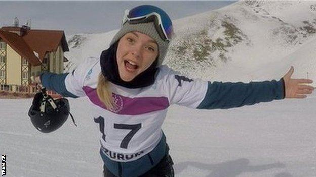 Ellie Soutter pictured during the Youth Olympic Winter