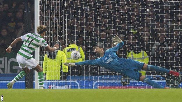 Scott Sinclair's penalty is saved by Joe Lewis