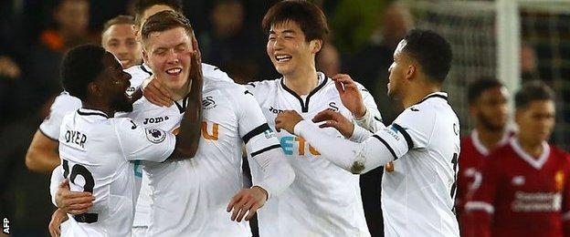 Swansea City defender Alfie Mawson