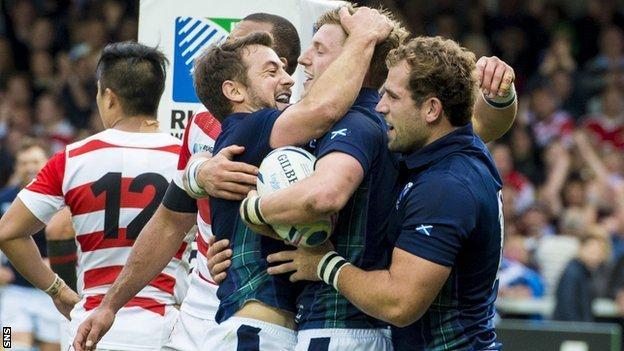 Scotland scored five second half tries against Japan