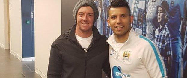 Rory McIlroy and Sergio Aguero