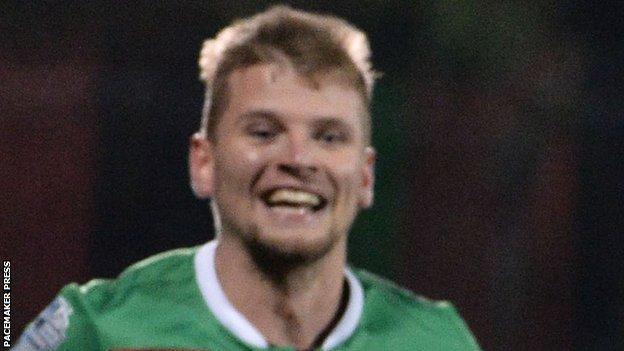 Stewart joined Glentoran from Linfield in the summer