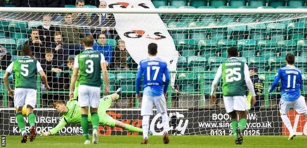 Adam Bogdan saves Danny Swanson's penalty