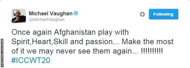 Michael Vaughan tweet