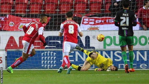 Jonson Clarke-Harris scores for Rotherham