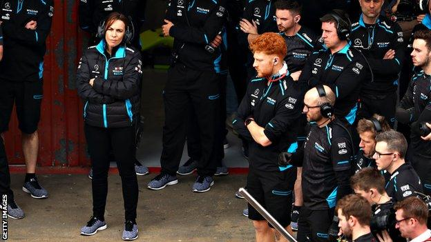 Claire Williams Says Team S Struggles Are Not Because I Am A Mum Bbc Sport