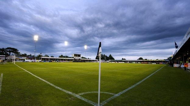 Belle Vue stadium has hosted football in Rhyl since 1900