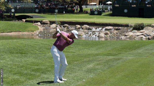 Lee Westwood in first-round action at Sun City