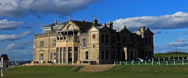 The R&A clubhouse St Andrews