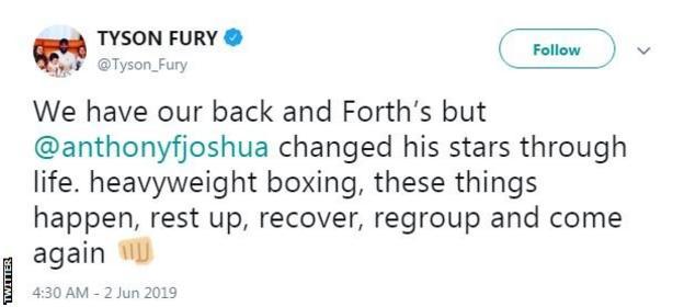 Tyson Fury Tweets