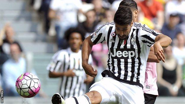 Juventus midfielder Sami Khedira