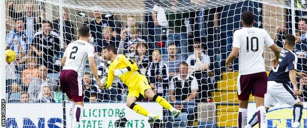 Kane Hemmings finds the net with a fifth-minute header