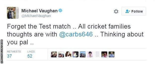Former England captain Michael Vaughan