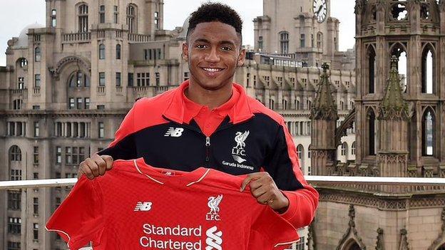 Liverpool's new signing Joe Gomez
