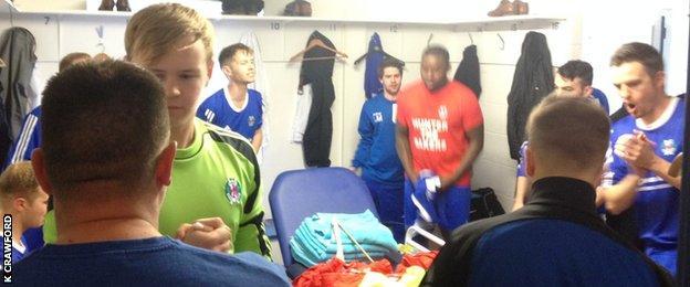 Hawick Royal Albert's dressing room five minutes before kick-off
