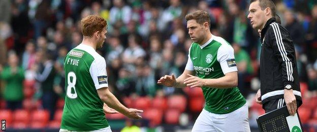 Grant Holt comes on for Fraser Fyvie