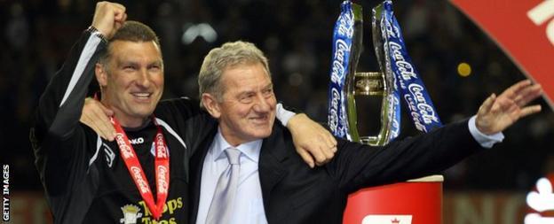 Milan Mandaric and Nigel Pearson