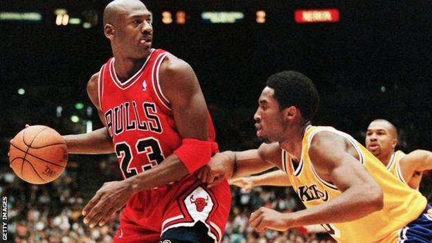 Michael Jordan (left) and Kobe Bryant (right)