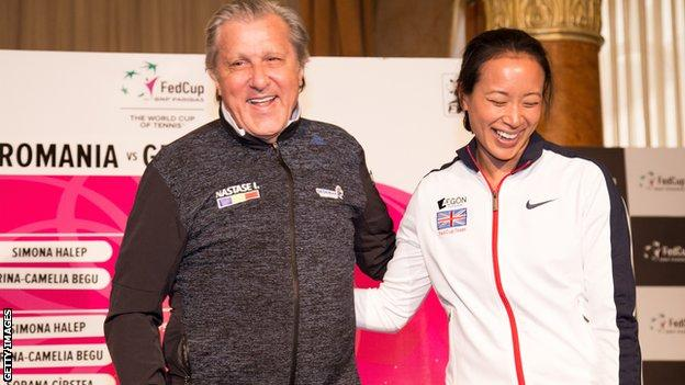 Ilie Nastase and Anne Keothavong