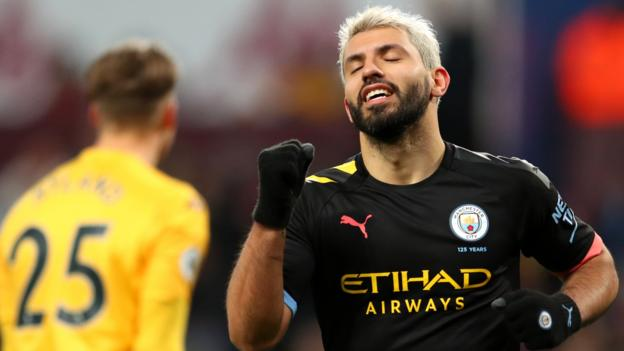 Aston Villa 1-6 Manchester City: Sergio Aguero becomes highest overseas scorer in Premier League history thumbnail