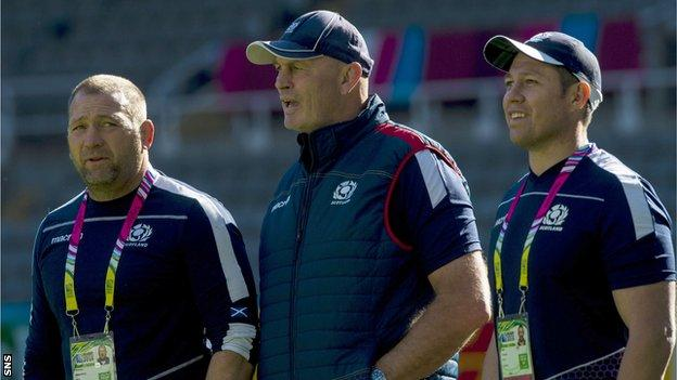 Humphreys (left) and Taylor (right) have joined Cotter in extending their deals with Scotland