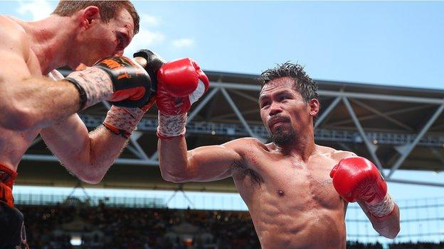 Manny Pacquiao (right)
