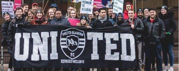 United Glasgow attend a number of marches and demonstrations outside of their football activities.