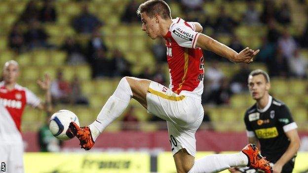Mario Pasalic scores for Monaco against Angers