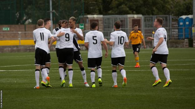 Edinburgh City players celebrate