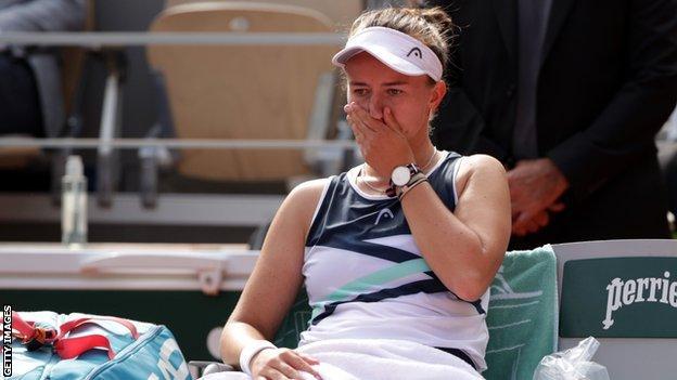 Barbora Krejcikova contemplates her French Open win