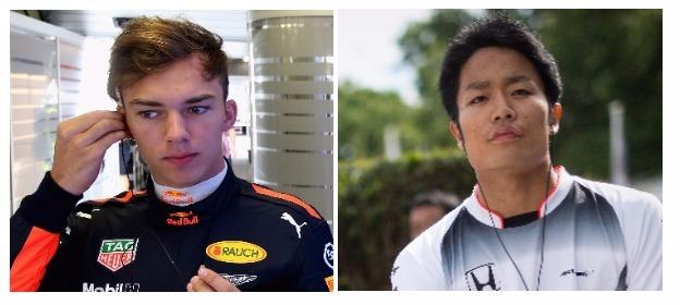Formula 1 rookies Pierre Gasly and Nobuharu Matsushita