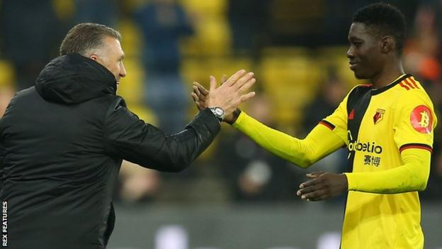 Senegal winger Ismaila Sarr epitomised Watford's spirit with a breathless performance which he capped with a third goal in seven Premier League appearances