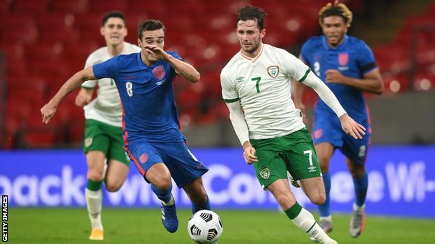 Alan Browne, Perşembe günü İngiltere ile İrlanda Cumhuriyeti adına forma giyiyor.