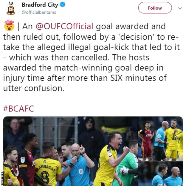 Bradford City Twitter