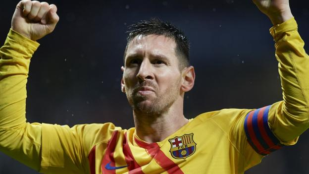 Late Messi winner at Atletico sends Barca top