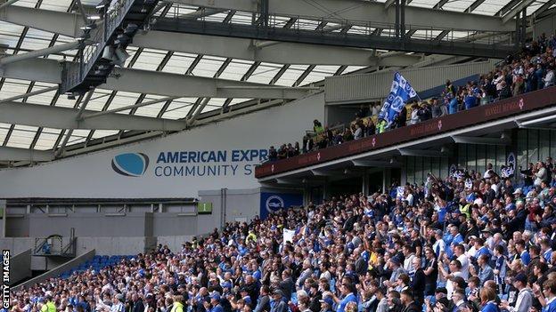 Brighton fans at the Amex Stadium