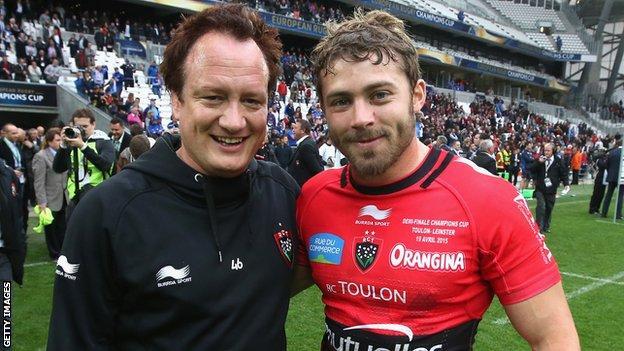 Paul Stridgeon (left) with Leigh Halfpenny