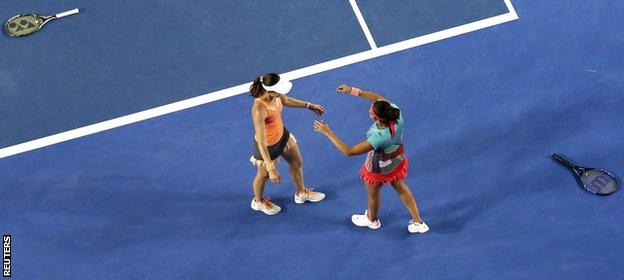 Hingis and Mirza have won 36 matches in a row