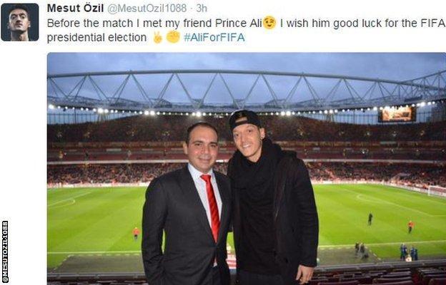 Mesut Ozil with Prince Ali