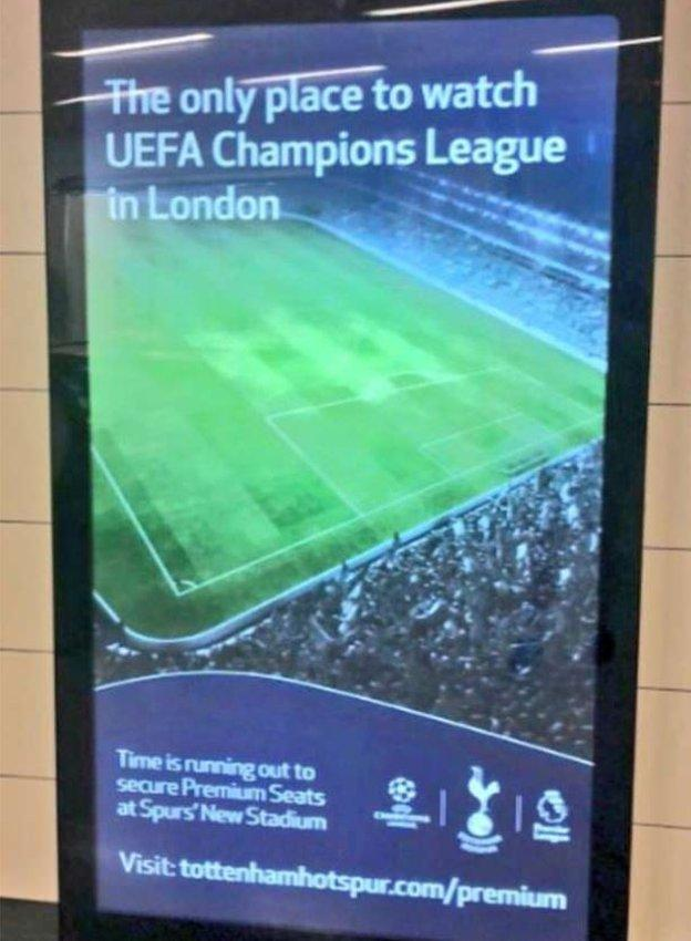 Tottenham's advert