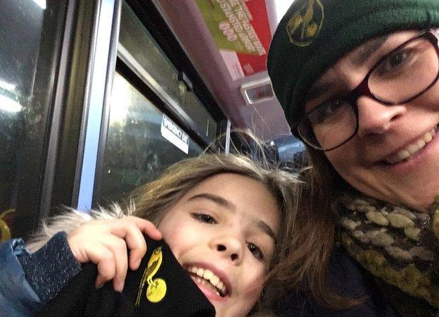 Sarah Greaves with daughter Naomi