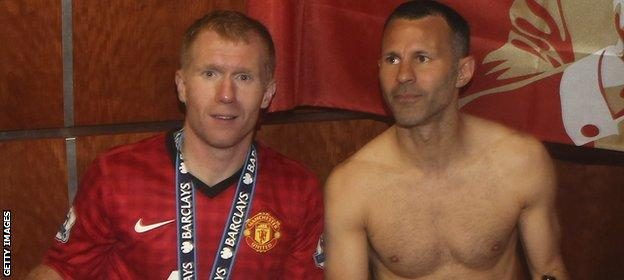Scholes and Giggs were in the United team that won the Premier League title in 2013