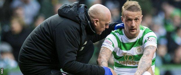 Leigh Griffiths suffers an injury