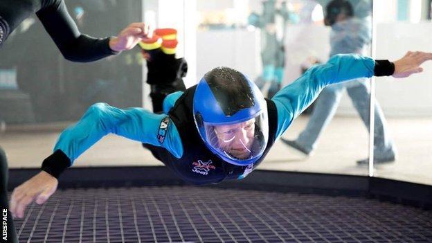 Marieke Vervoort does indoor skydiving