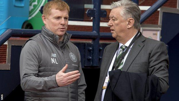 Celtic manager Neil Lennon and chief executive Peter Lawwell have joined the players in taking wage reductions